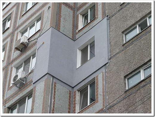 Утепление наружной стены панельного дома