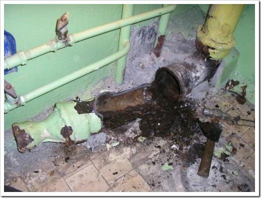 Демонтаж чугунной канализации своими руками