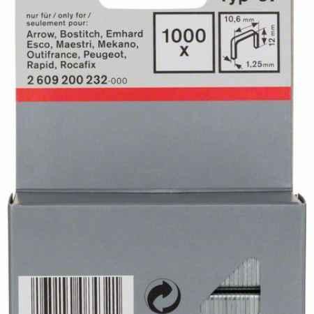 Купить Скрепки для степлера Bosch 1000 12/10.6мм тип 57 2609200232