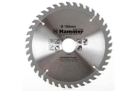 Купить Диск пильный Hammer Flex 205-110 CSB WD 185мм*40*30/20мм по дереву