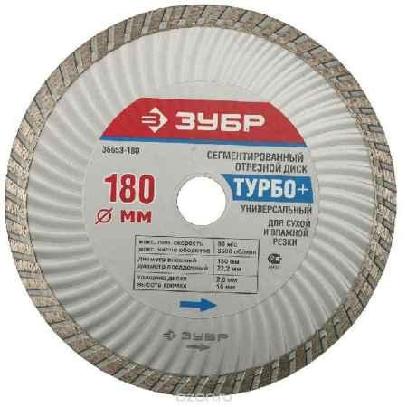 Купить ЗУБР Турбо+ сегментированный отрезной алмазный круг, универсальный, 22,2х180 мм