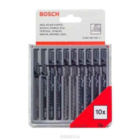 Купить Набор пилок по дереву Bosch, Т-образный хвостик, 10 шт