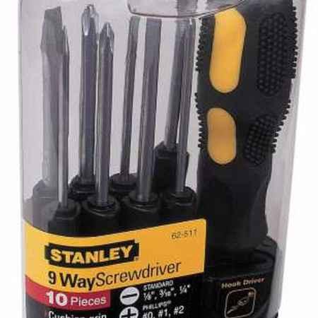 Купить Отвертка Stanley со сменными вставками, 10 предметов