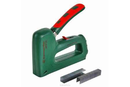 Купить Степлер строительный Hammer Flex HPP10 скобы П8-14мм, гвозди 16мм с рег. удара