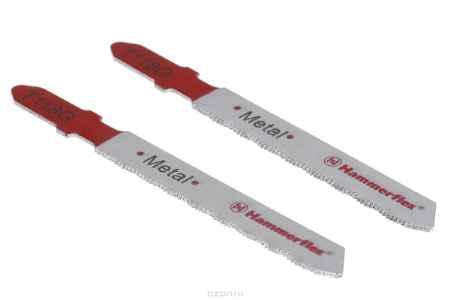 Купить Пилка для лобзика Hammer Flex 204-126 JG MT T118G (2pcs) тонкий металл,50мм,шаг 0.8, HSS, 2шт