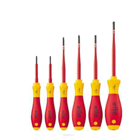 Купить Набор отверток SoftFinish electric 3251SF K6 slimFix 6 ед Wiha 36558