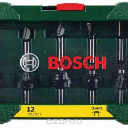 Купить Набор фрез Bosch, хвостик 8 мм, 12 шт
