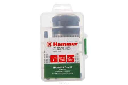 Купить Патрон Hammer Flex 208-105 CH-1 3,0-16мм/3,8''-24UNF 3,0-16мм + переходник SDS+