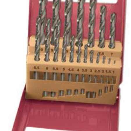 Купить Набор сверл по металлу, полированных, HSS (1,0 - 10,0 мм), набор 19 шт.