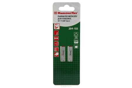 Купить Пилка для лобзика Hammer Flex 204-132 JG MT T118BF (2pcs) тонкий металл, 50мм,шаг 2.0, BiMET, 2шт