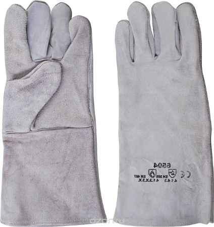 Купить Краги сварщика спилковые пятипалые, цвет: серый, 10,5