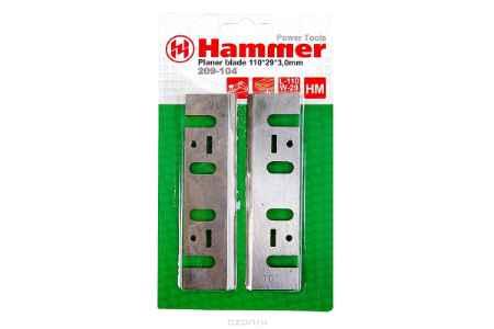 Купить Ножи для рубанка Hammer Flex 209-104 PB 110x29x3,0 110мм, 2шт., HM