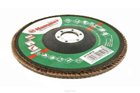 Купить Круг лепестковый торцевой КЛТ Hammer Flex 213-012 150 Х 22 Р 80 тип 2