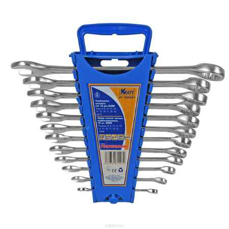 Купить Набор комбинированных гаечных ключей Kraft