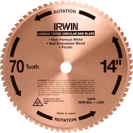 Купить Универсальный пильный диск Irwin, 355 мм