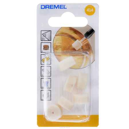Купить Набор полировальных насадок, 6 шт. Dremel 414 (2615041432)