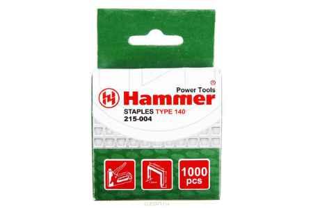 Купить Скобы для степлера Hammer Flex 215-004 10 мм, 10мм, 1,2мм П-образные (тип 140), 1000шт