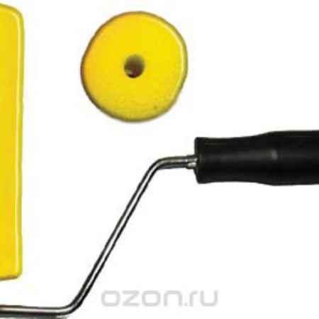Купить Валик поролоновый FIT с ручкой, 180 мм, цвет: желтый