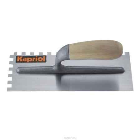 Купить Гладилка зубчатая Kapriol, с деревянной ручкой, зуб 12 мм, 12 см х 28 см