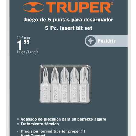 Купить Набор бит Truper, PZ x 25 мм, 5 шт