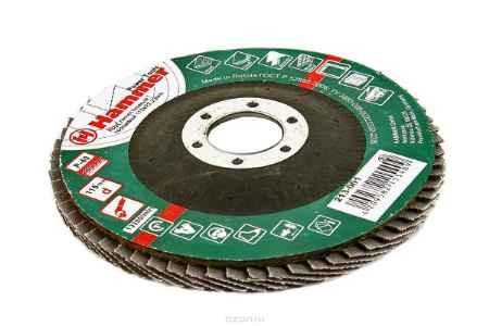 Купить Круг лепестковый торцевой КЛТ Hammer Flex 213-001 115 Х 22 Р 40 тип 2