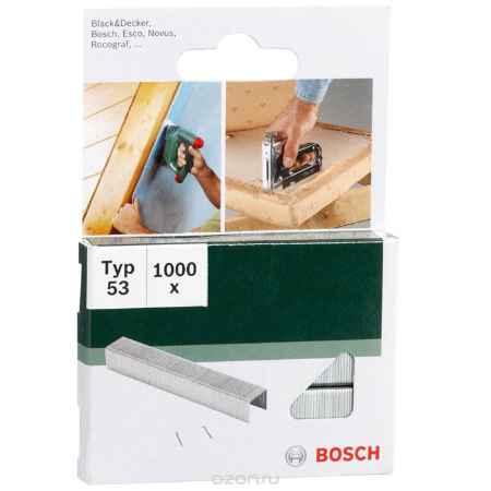 Купить Скобы Bosch для строительного степлера, тип T53, 6 мм, 1000 шт