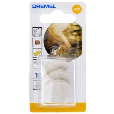Купить насадки для чистки и полировки Dremel 429 (26150429JA) 3 шт.