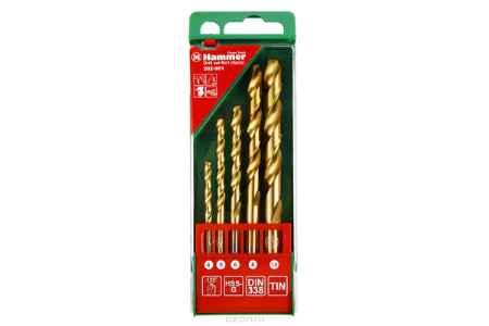 Купить Набор сверел Hammer Flex 202-901 DR set No1 (5pcs) 4-10mm металл, 5шт.