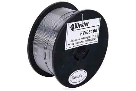 Купить Проволока сварочная WESTER FW 08100 флюсовая 0.8мм, 1 кг