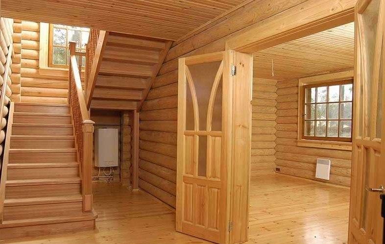 Как сделать внутреннюю отделку дома из бруса