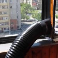 Монтаж мобильного кондиционера