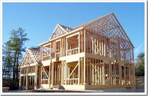 Дом деревянный каркасный дом