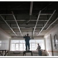 Процедура монтажа подвесного потолка