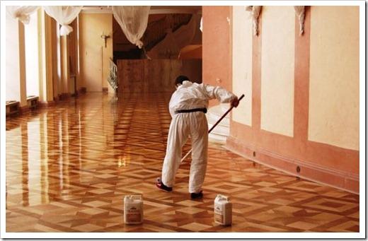 Подготовка полка к нанесению нового лакокрасочного покрытия