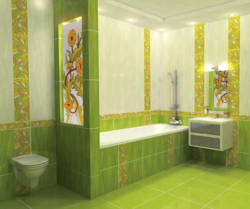 Ванная комната в кафеле