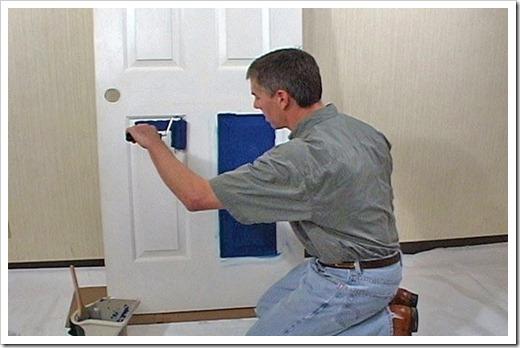 Окрашивание двери