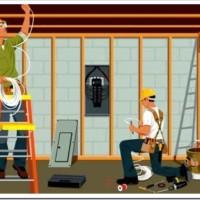 Наиболее распространённые работы по электромонтажу