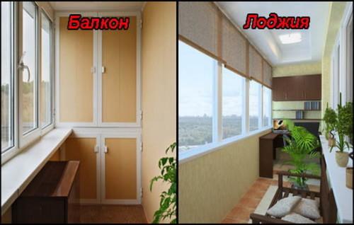 Балкон и лоджия изнутри