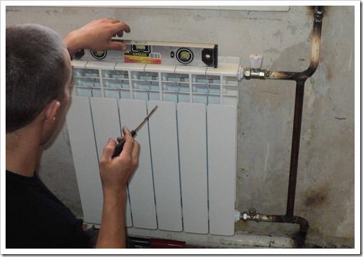 Позиционирование радиатора отопления