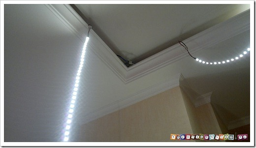 Использование светодиодной ленты в сочетании с натяжными потолками
