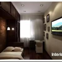 Расположение мебели вдоль длинной стены