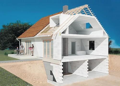 Как построить дом из пенобетона 9