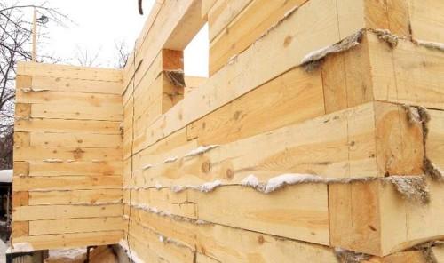 как пристроить дом из бруса