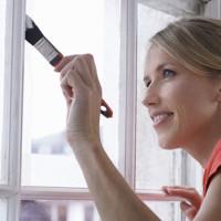 как покрасить деревянное окно