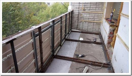 Методика выполнения расширения балкона от плиты