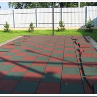 Тротуарная резиновая плитка