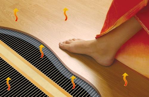 Как укладывать инфракрасный теплый пол