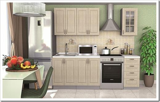 Фурнитура кухонного гарнитура и освещение