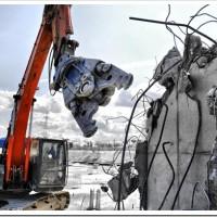 Тотальный снос строительного объекта