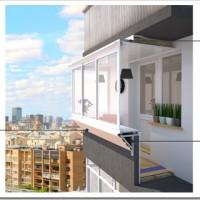 Эффективное застекление балкона с выносом